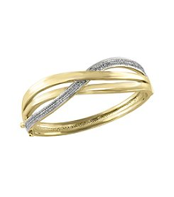 Effy® 1.02 Ct. T.W. Diamond Bangle In 14k Yellow Gold