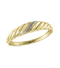 Effy® .20 Ct. T.W. Diamond Bangle In 14k Yellow Gold