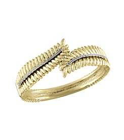 Effy® .30 Ct. T.W. Diamond Bangle In 14k Yellow Gold