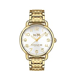 COACH WOMEN'S 36mm DELANCEY GOLDTONE BRACELET WATCH
