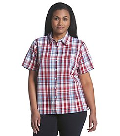 Breckenridge® Plus Size Plaid Texture Shirt
