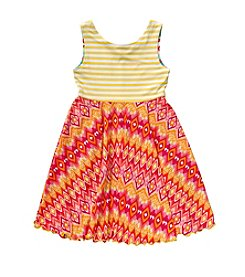 Sweet Heart Rose® Girls' 2T-6X Reversible Twirl Dress