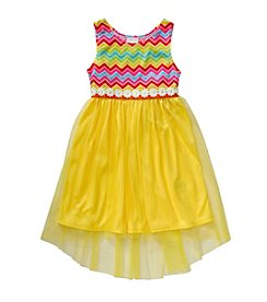 Sweet Heart Rose® Girls' 2T-6X Chevron Printed Dress