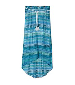 Amy Byer Girls' 7-16 Chevron Knit Maxi Skirt