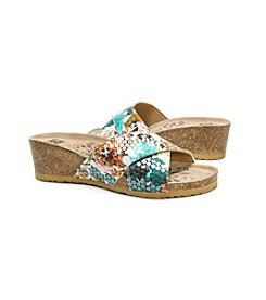 MUK LUKS Women's Helene Wedge Sandals