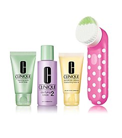Clinique Clean Skin, Great Skin Sonic Brush Skin Type I/II Gift Set (A $103 Value)