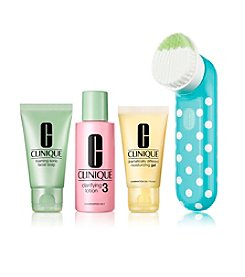 Clinique Clean Skin, Great Skin Sonic Brush Skin Type III/IV Gift Set (A $103 Value)