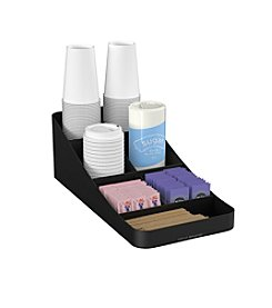 Mind Reader Trove 7 Compartment Coffee Condiment Organizer