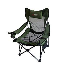 Ore International Portable Mesh Folding Green Chair