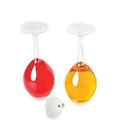 Fox Run Craftsmen® Wine Glass Oil & Vinegar Bottle Set