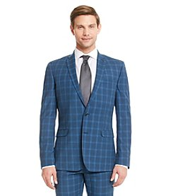 Nick Graham® Men's Blue Plaid Suit Separates Jacket