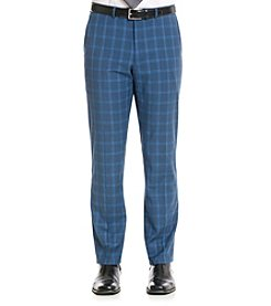 Nick Graham® Men's Blue Plaid Suit Separates Pants