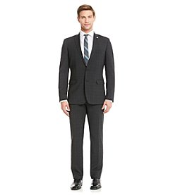 Nick Graham® Men's Black Plaid Suit Separates