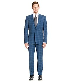 Nick Graham® Men's Blue Plaid Suit Separates