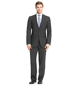 John Bartlett Men's Black Stretch Pindot Suit Separates