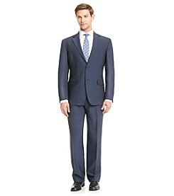 John Bartlett Men's Blue Stretch Pindot Suit Separates
