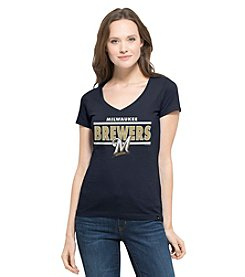 47 Brand MLB® Milwaukee Brewers Women's Clutch Short Sleeve Tee