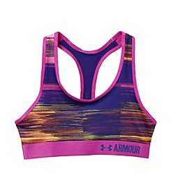 Under Armour® Girls' HeatGear® Printed Sports Bra