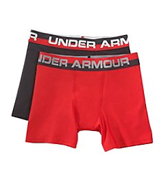 Under Armour® Boys' 2-Pack Original Series Boxerjock Briefs