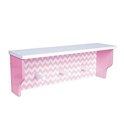 Trend Lab Pink Chevron Shelf