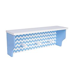Trend Lab Blue Chevron Shelf