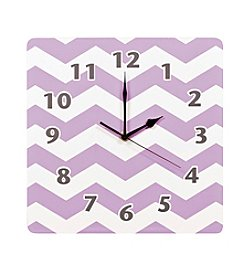 Trend Lab Orchid Bloom Chevron Wall Clock