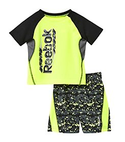 Reebok® Boys' 2T-4T 2-Piece Printed Tee And Shorts Set
