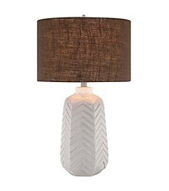 Catalina Lighting Chevron Ceramic Table Lamp