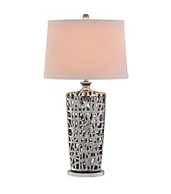 Catalina Lighting Chrome Lattice Table Lamp