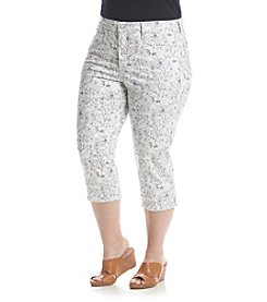 NYDJ® Plus Size Printed Ariel Crop Pants