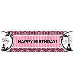 Paris Damask Happy Birthday Banner