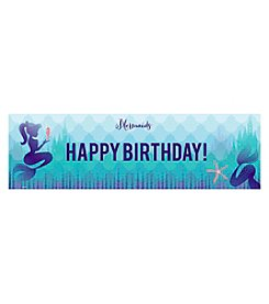 Mermaids Under the Sea Happy Birthday Banner