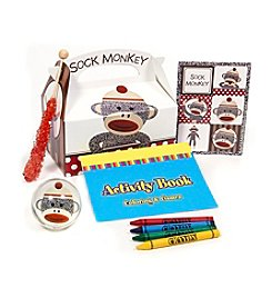 Sock Monkey Red Filled Party Favor Box - Set of 4