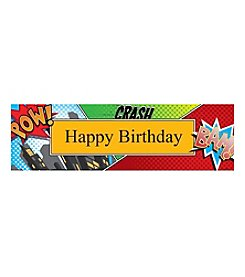Superhero Comics Happy Birthday Banner