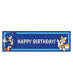 Sonic the Hedgehog Happy Birthday Banner