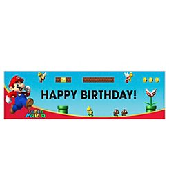 Super Mario Brothers Happy Birthday Banner