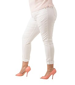Poetic Justice Maya Plus Size Skinny White Jeans