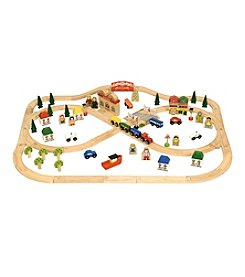 Bigjigs Toys Wood Town and Country Train Playset