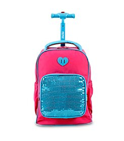 J World® Sparkle Kids' Rolling Backpack