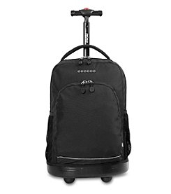 J World® Black Sunny Rolling Backpack