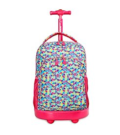 J World® Floret Sunny Rolling Backpack