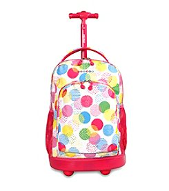 J World® Sunny Speckle Rolling Backpack