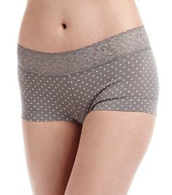 Maidenform® Cotton Dream Lace Trim Boyshort Panty