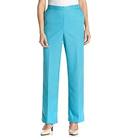 Alfred Dunner® Petites' Cozumel Solid Pull On Pants