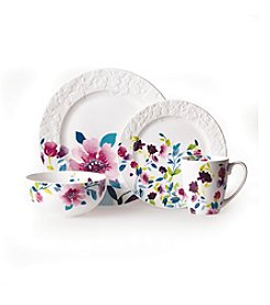 Gourmet Basics By Mikasa® Meadow Violets 16-Pc. Porcelain Kim Parker Dinnerware Set