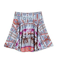 Amy Byer Girls' 7-16 Bohemian Tie-Dye Printed Flippy Skirt