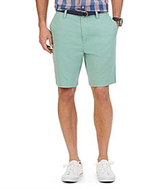 Nautica® Men's Anchor Twill Flat Front Shorts