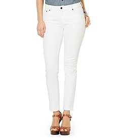 Lauren Jeans Co.® Super-Stretch Classic Straight White-Wash Jeans