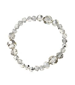 BT-Jeweled  Faceted Bead Stretch Bracelet
