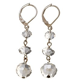 BT-Jeweled Metallic And Palladium Trio Beads Earrings